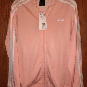 NWT Adidas, XL, Zip up Track Jacket, Peach/White,
